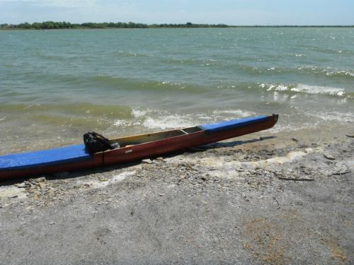 canoe on lake lewisville