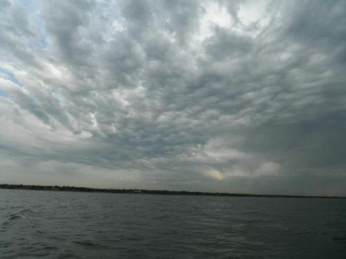 clouds over lake lewisville